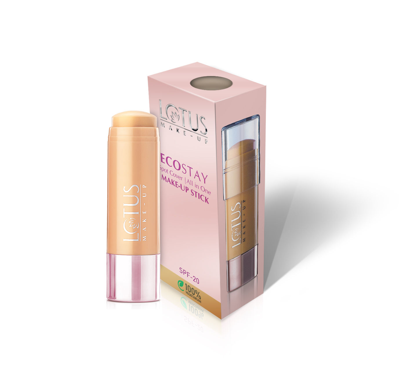Lotus Make-Up Ecostay Spot Cover All-in-One Make-Up Stick SPF20 - Rich Shell