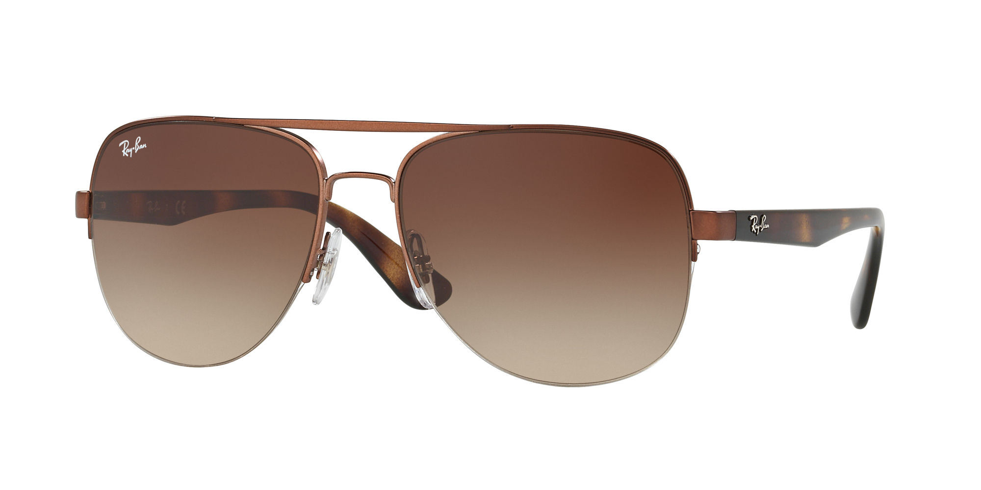 Ray-Ban Brown Gradient Sunglasses - 0RB3552I01213 58 - 17