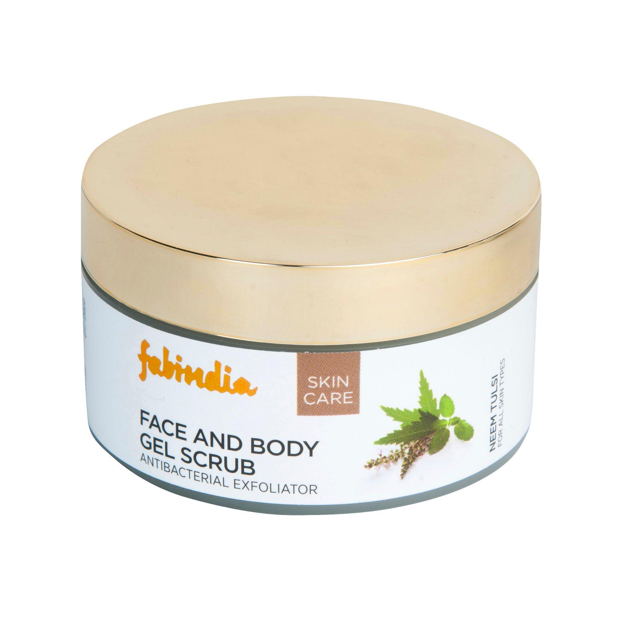 Fabindia Neem Tulsi Gel Scrub Body And Face Buy Fabindia Neem