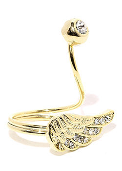 Tipsyfly Angel Wing Ring