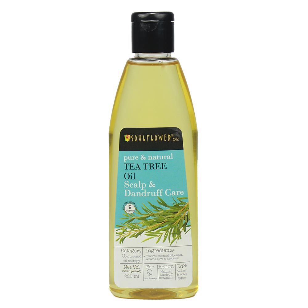 Soulflower Tea Tree Oil Scalp and Anti Dandruff - 225ml
