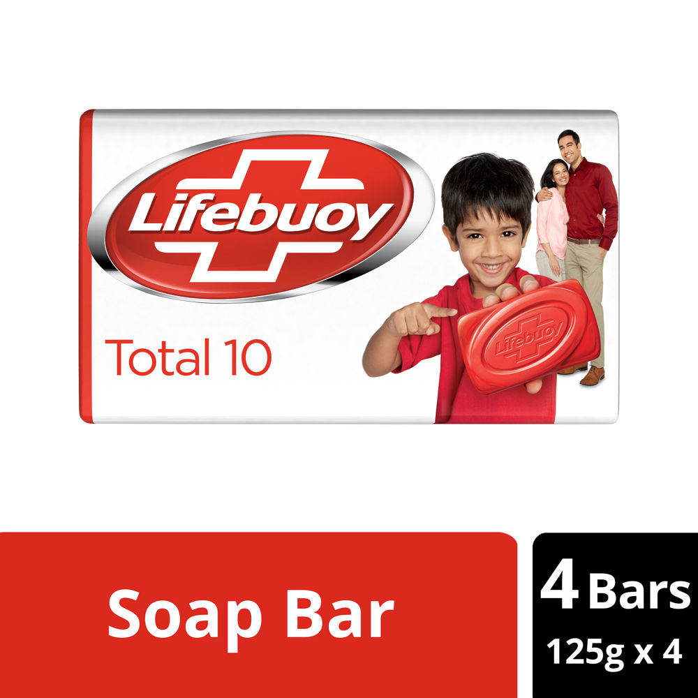 Lifebuoy Total 10 100% Stronger Germ Protection Soap Bar - Pack Of 4