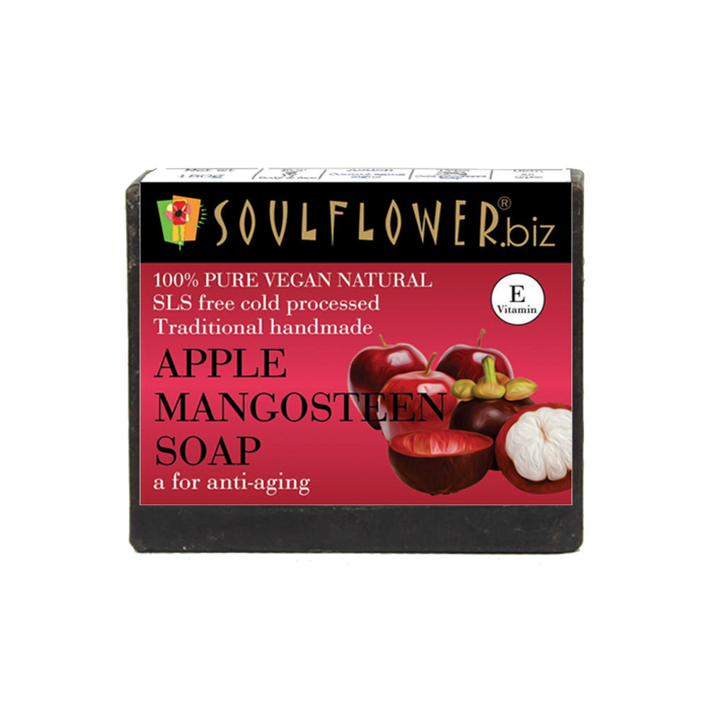 Soulflower Apple Mangosteen A For Anti-Aging Soap