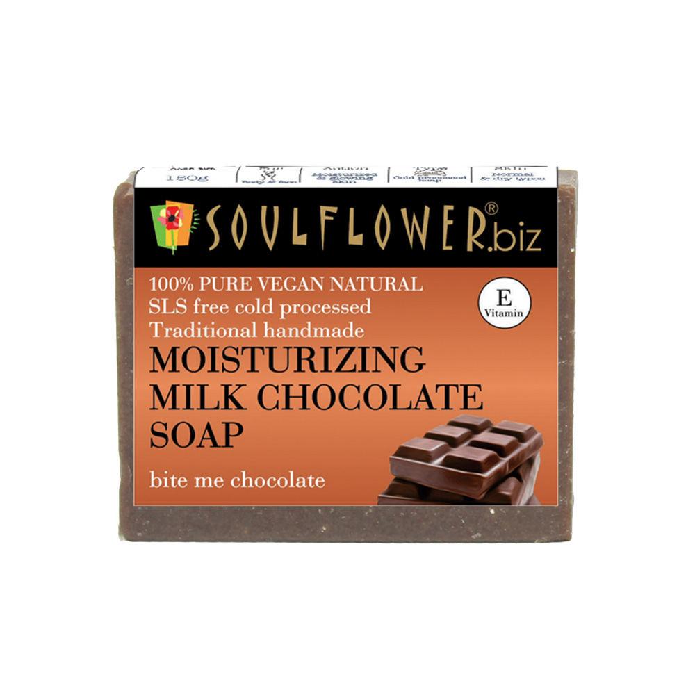 Soulflower Moisturizing Milk Chocolate Soap
