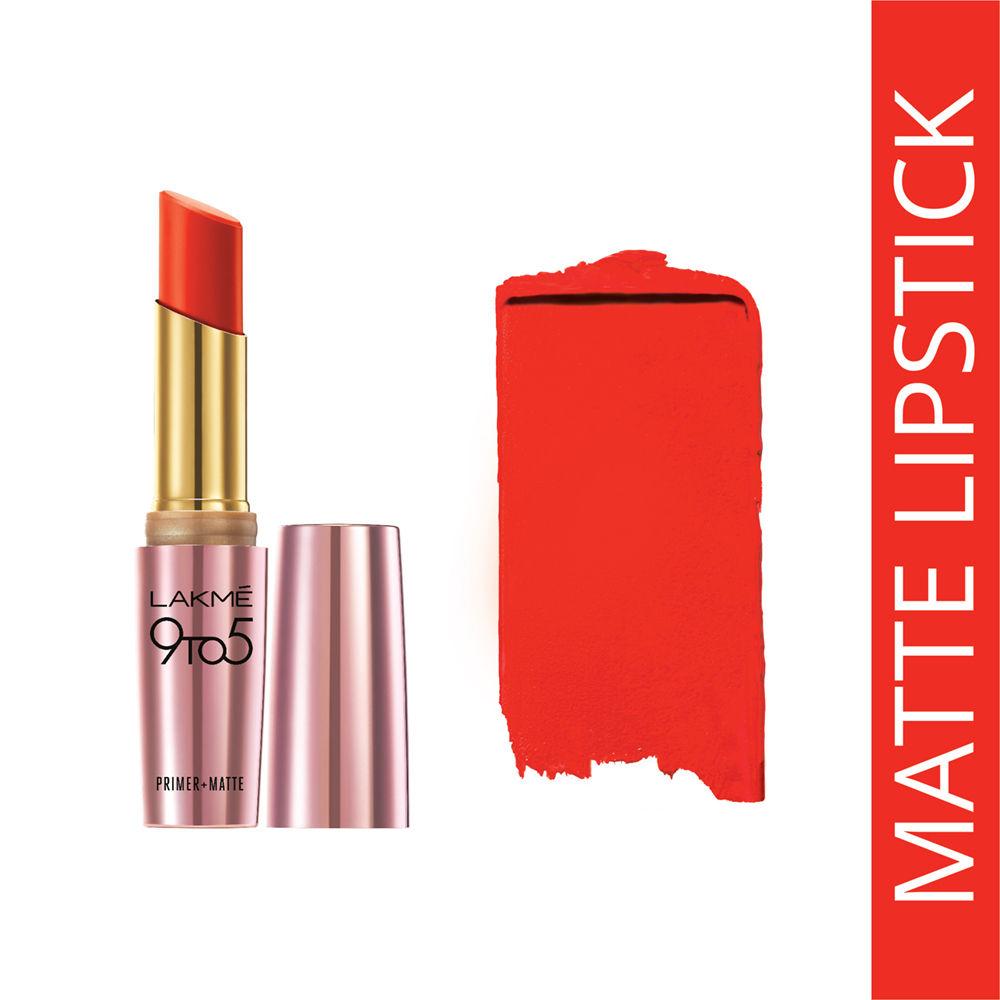 Lakme 9 To 5 Matte Lipstick Orange Edge MR8