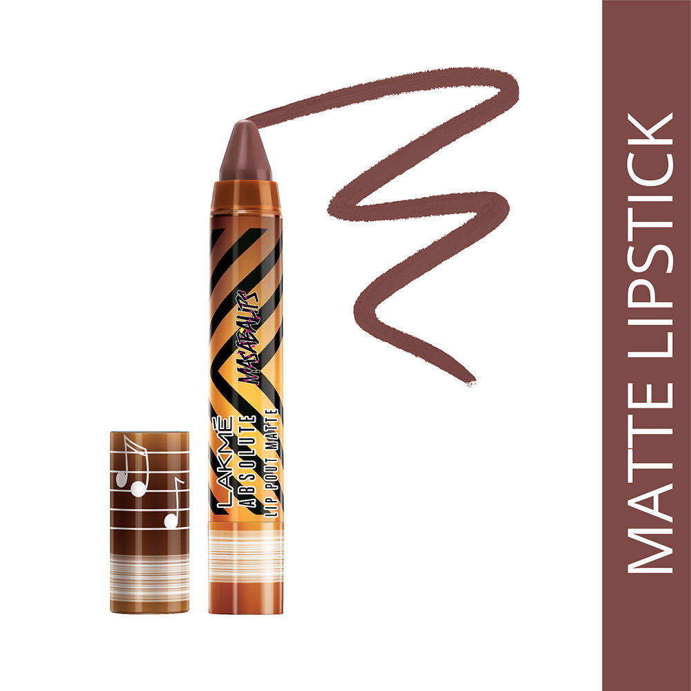 Lakme Absolute Lip Pouts Matte Masaba Lip Color - Caramel Toffee