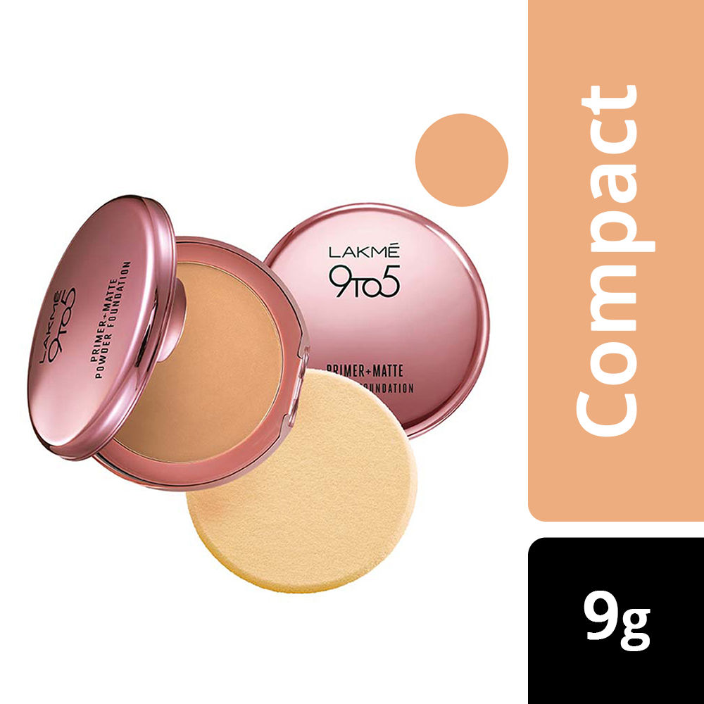 Lakme 9 To 5 Primer + Matte Powder Foundation Compact, Ivory Cream