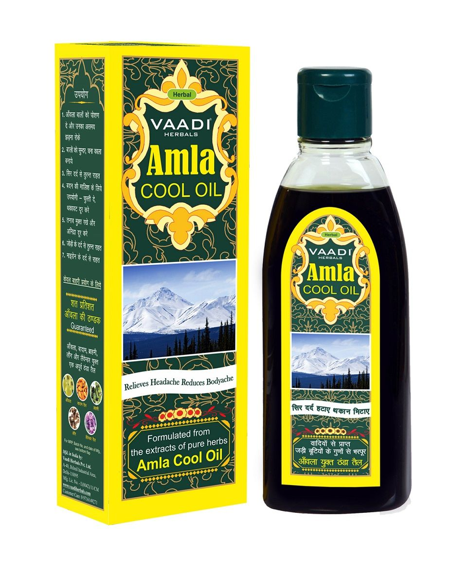 Vaadi Herbals With Brahmi & Amla Cool Oil, 200 ML