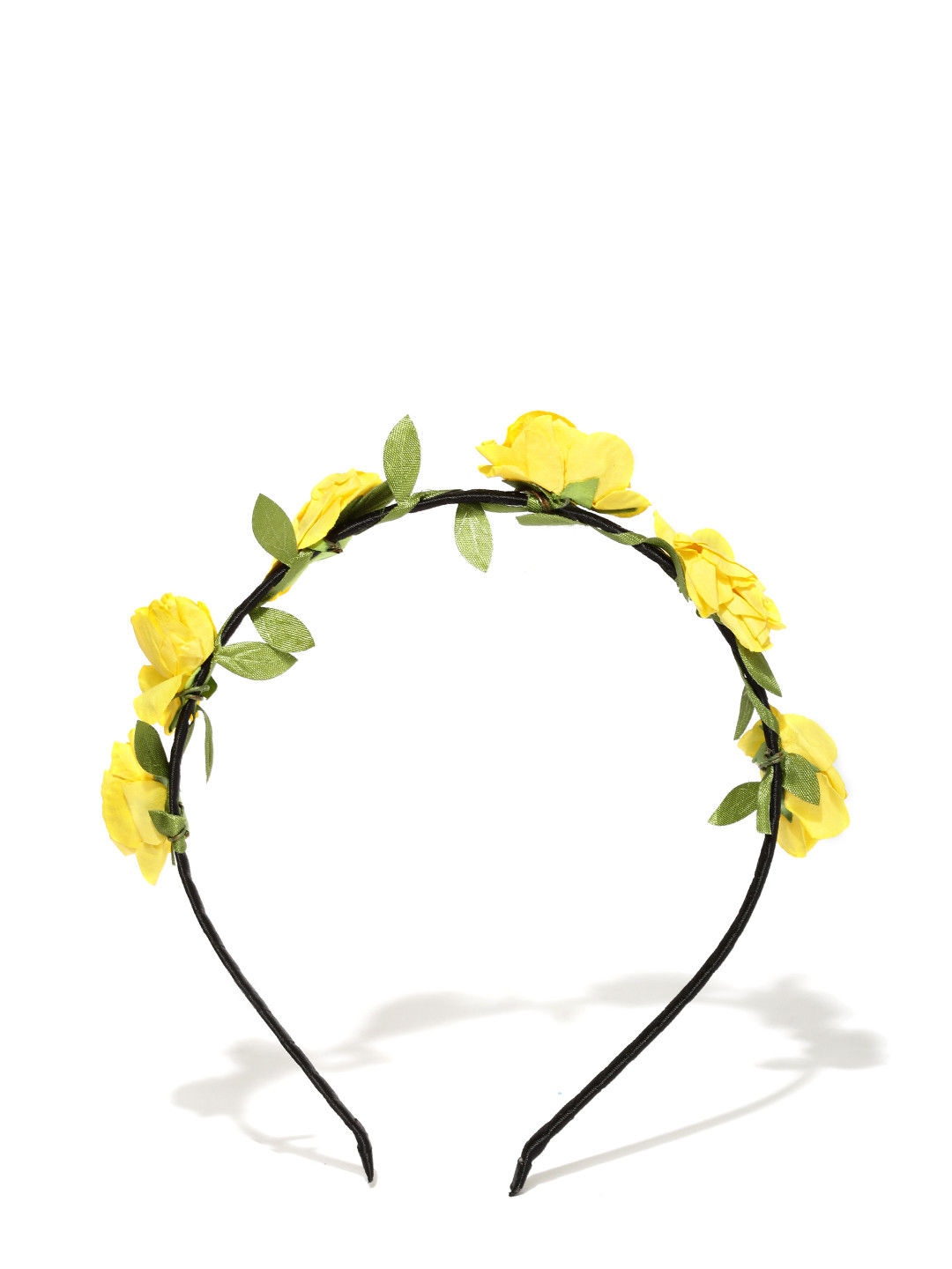 Toniq Yellow Floral Hair Band
