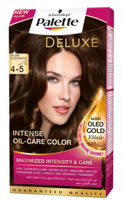Schwarzkopf Palette Deluxe Intense Oil Care Color 4-5 Golden Gloss Mocca