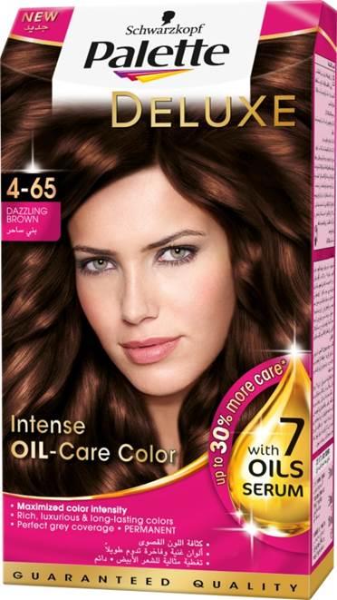 Schwarzkopf Palette Deluxe Intense Oil Care Color 4-65 Dazzling Brown