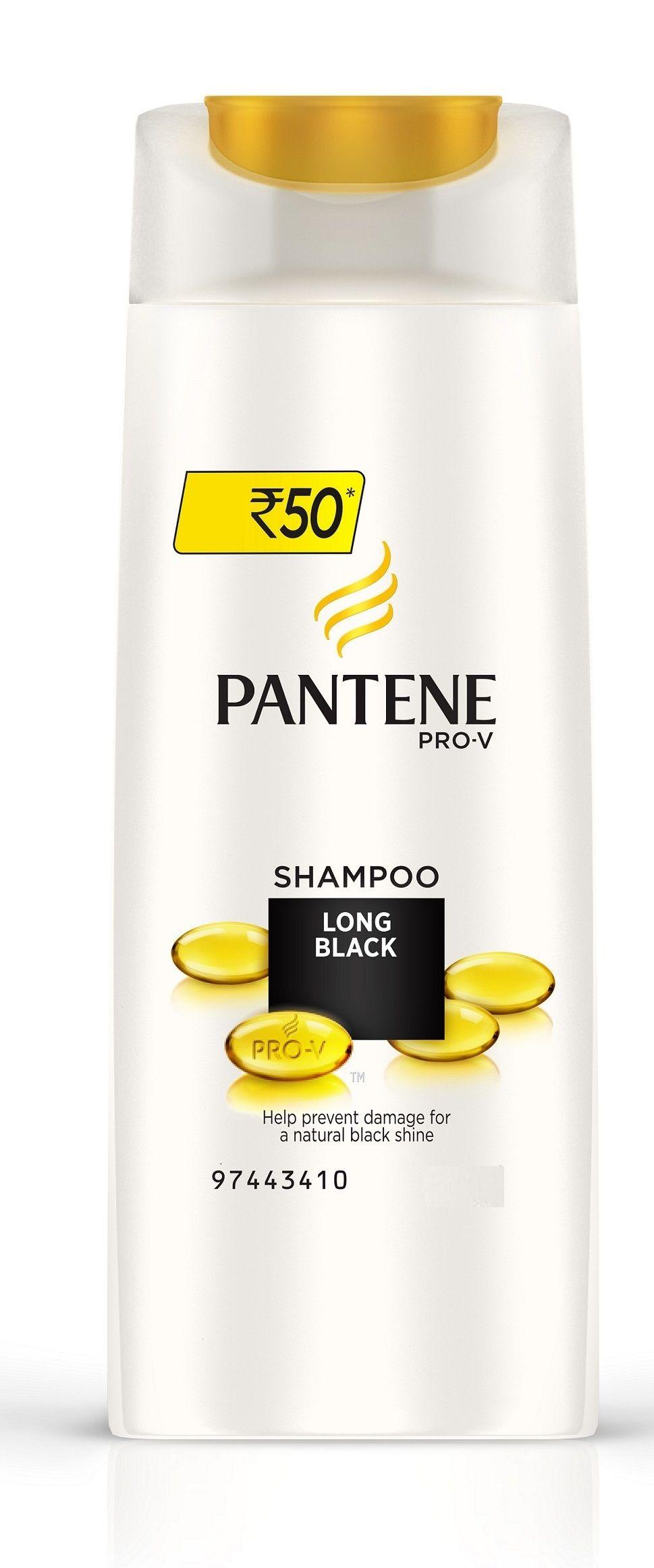 Pantene Long Black Shampoo (340ml)