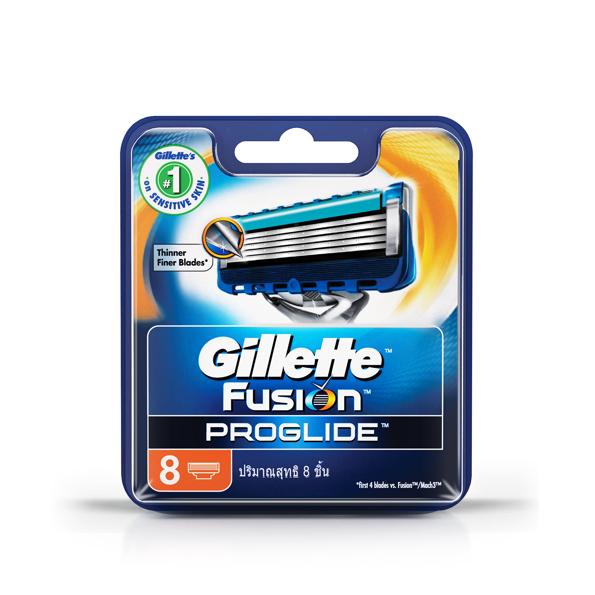 Gillette Fusion Proglide FlexBall Manual Shaving Razor Blades Cartridge  8s Pack
