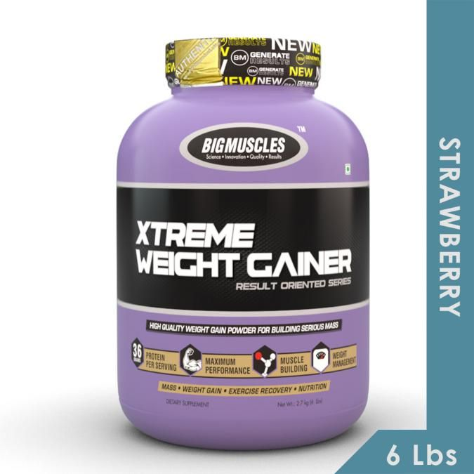 Big Muscles Xtreme Weight Gainer - Strawberry