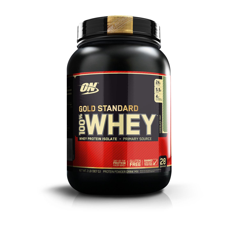 Optimum Nutrition (ON) 100% Whey Gold Standard - 2 lbs (Chocolate Mint)