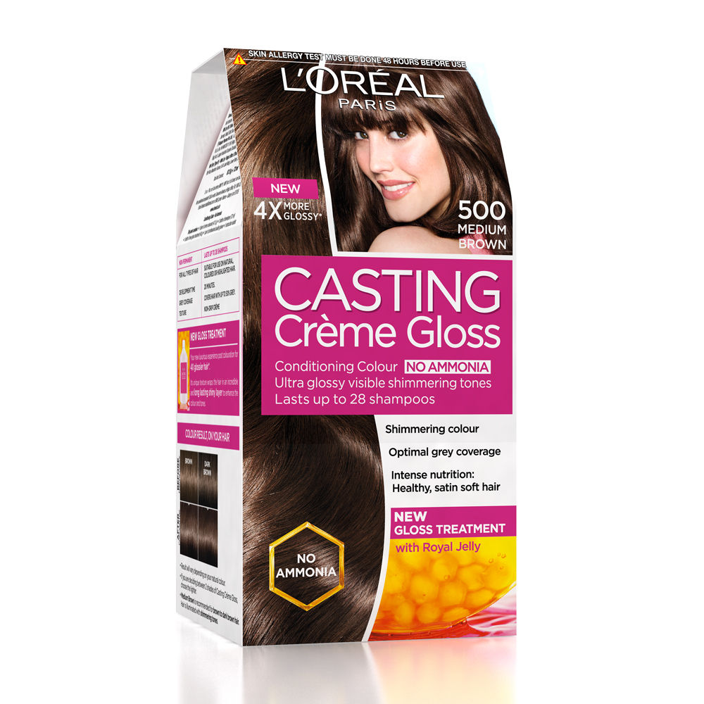 Loreal Paris Casting Creme Gloss Hair Color - 500 Medium Brown
