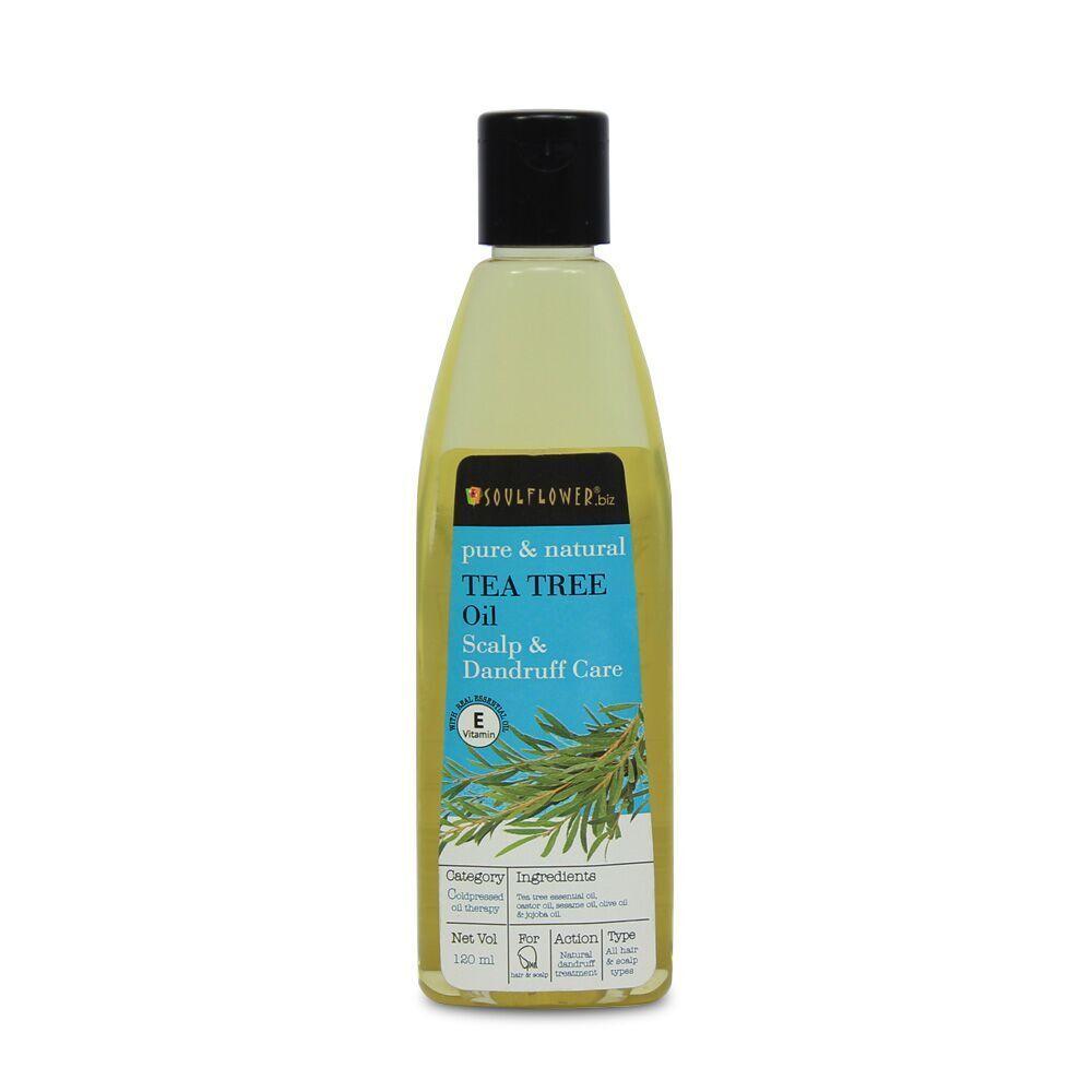 Soulflower Tea Tree Oil Scalp and Dandruff Care - 120ml