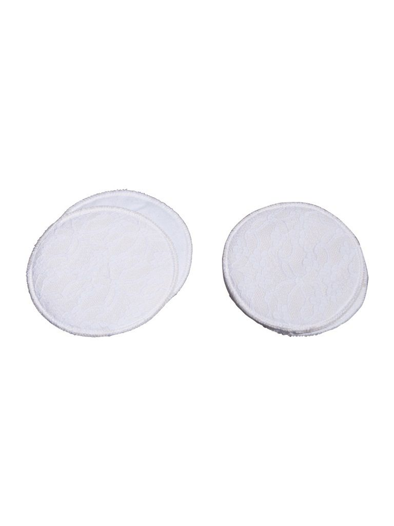Mee Mee Washable Cotton Maternity Nursing Pads (2 Pcs) White (Pack of 2)