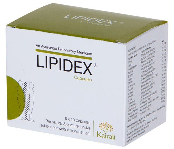 Kairali Lipidex Capsules (The Natural & Comprehensive Solution For Weight Management)