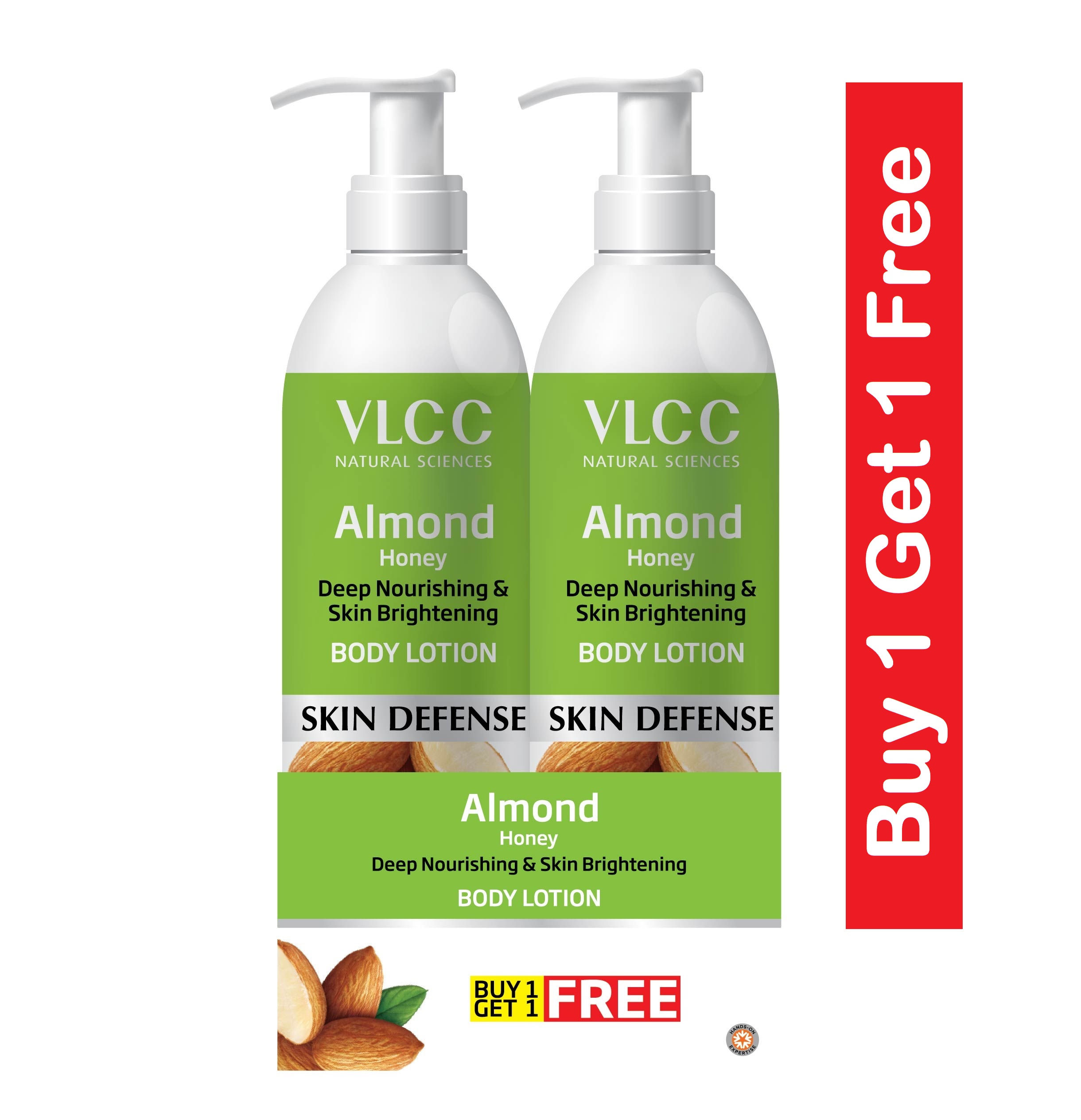 0f27609f613 VLCC Almond Honey Deep Nourishing & Skin Brightening Body Lotion (Buy 1 Get  1)(Each 350ml)