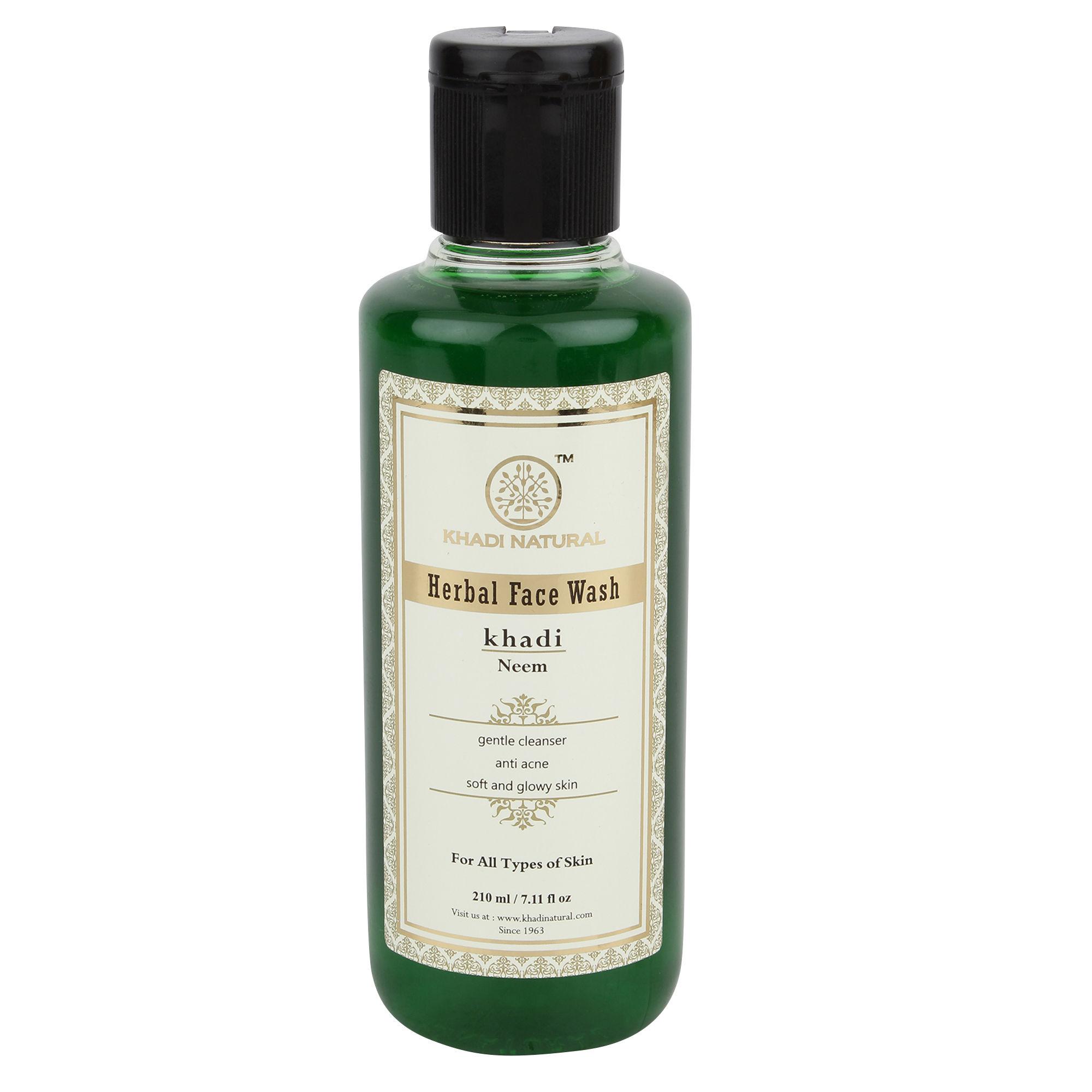 Khadi Herbal Neem Face Wash, 210 ml