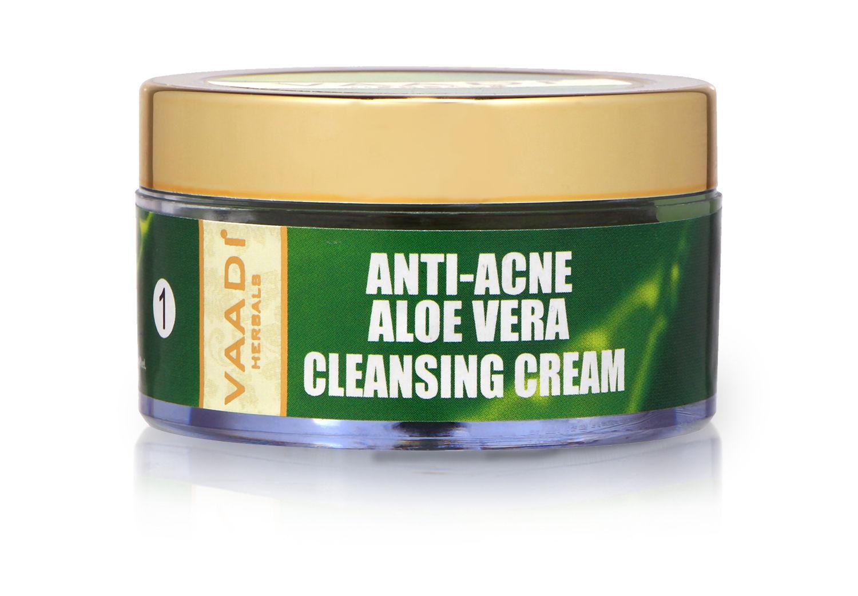 Vaadi Herbals Anti Acne Aloe Vera Cleansing Cream, 50 GM