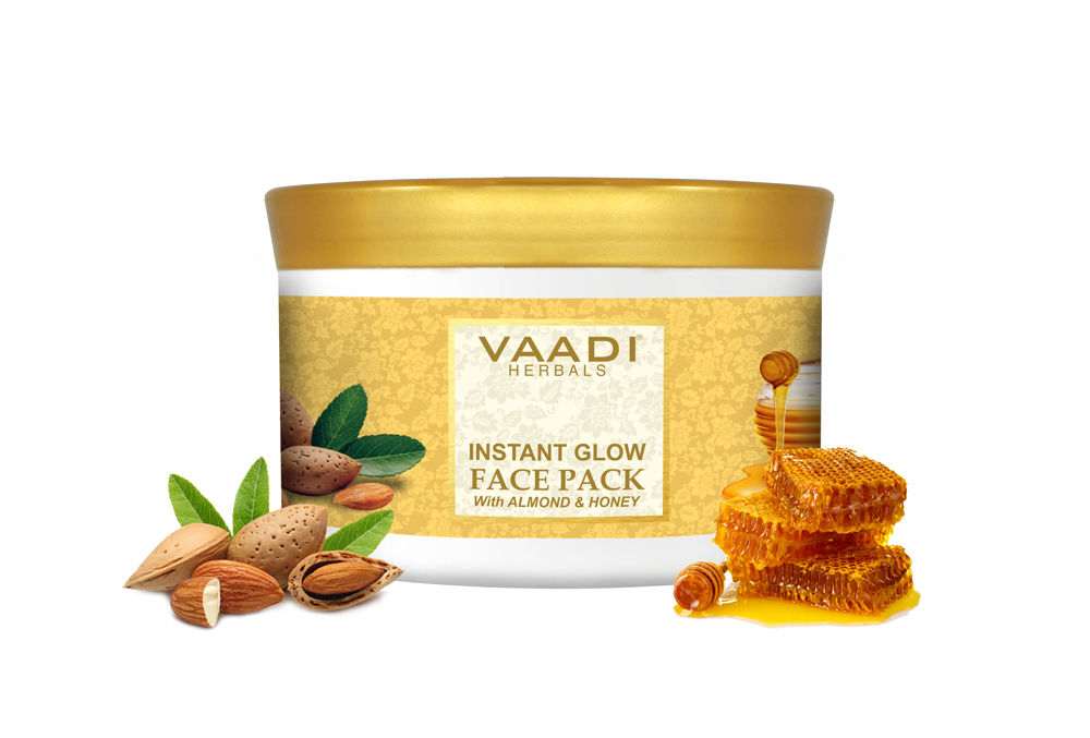 Vaadi Herbals Instant Glow With Almond And Honey Face Pack (600gm)