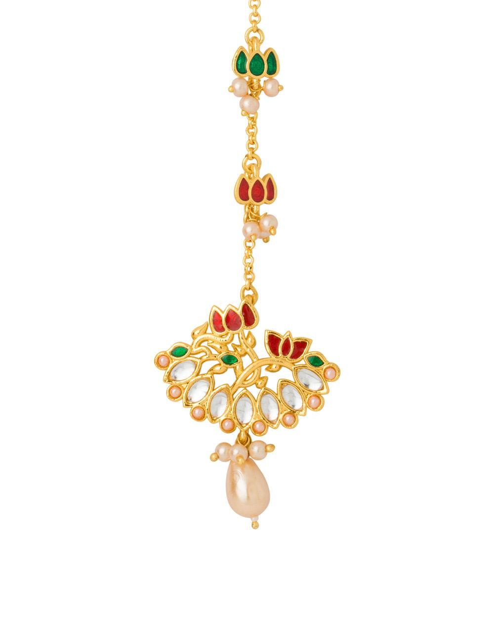 Voylla Gold Plated Maang Tikka From Vyoma Pride