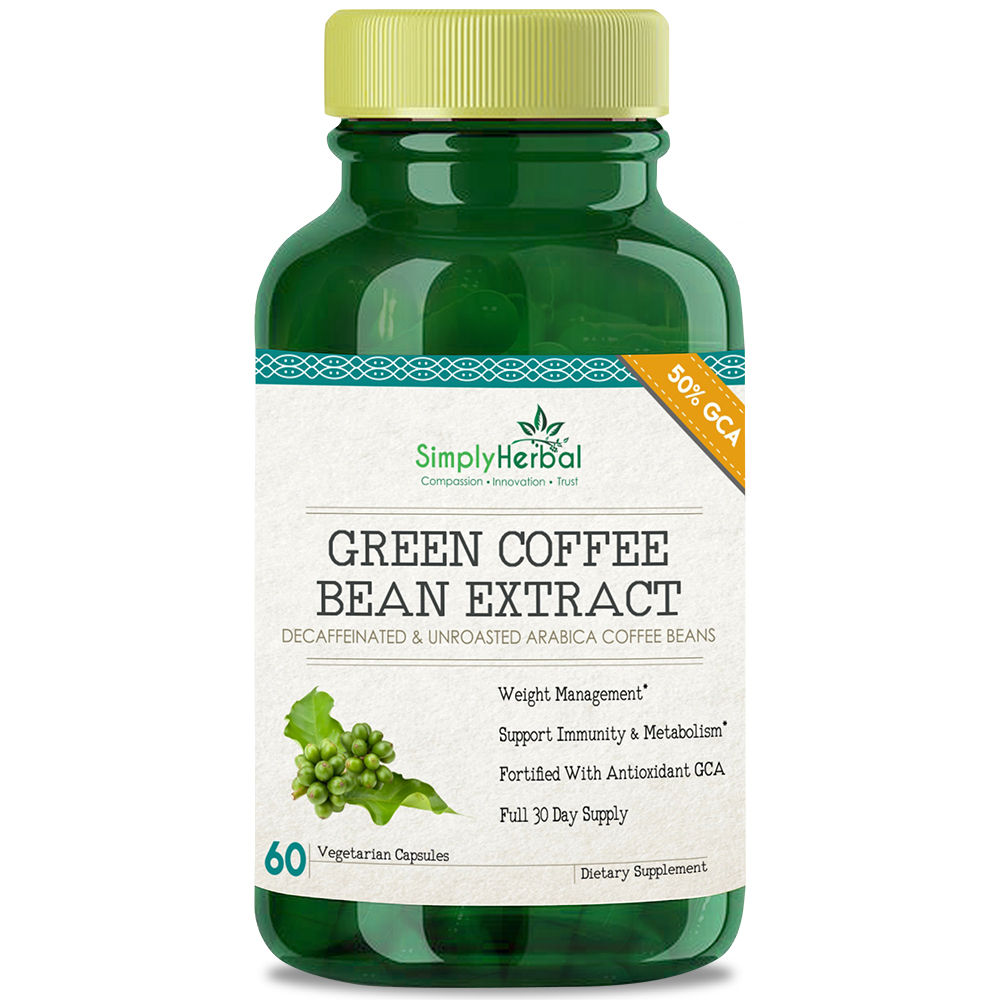 Simply Herbal Green Coffee Bean Extract 60 Capsules