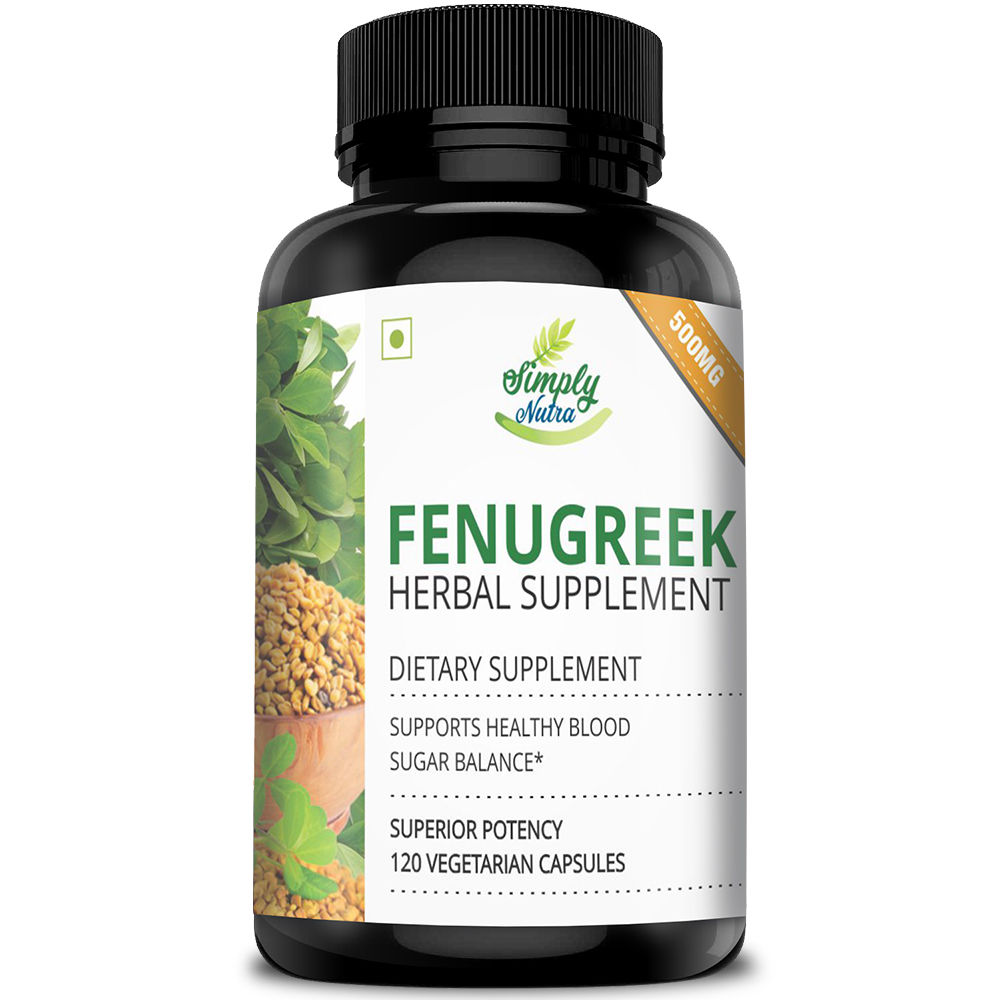Simply Nutra Fenugreek Seed Extract, 500mg 120 Capsules