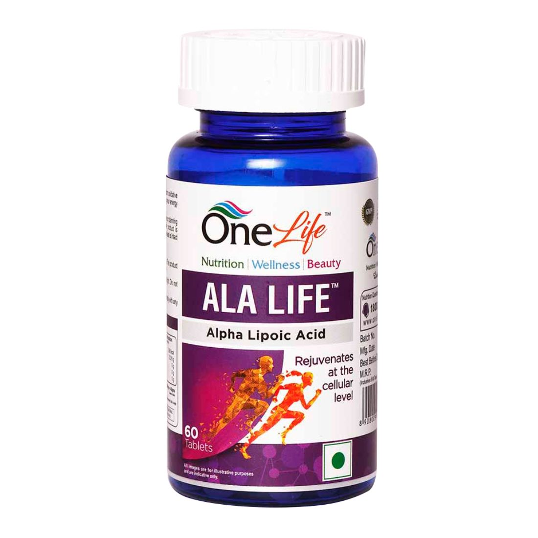 OneLife ALA Life Alpha Lipoic Acid 60 Tablets