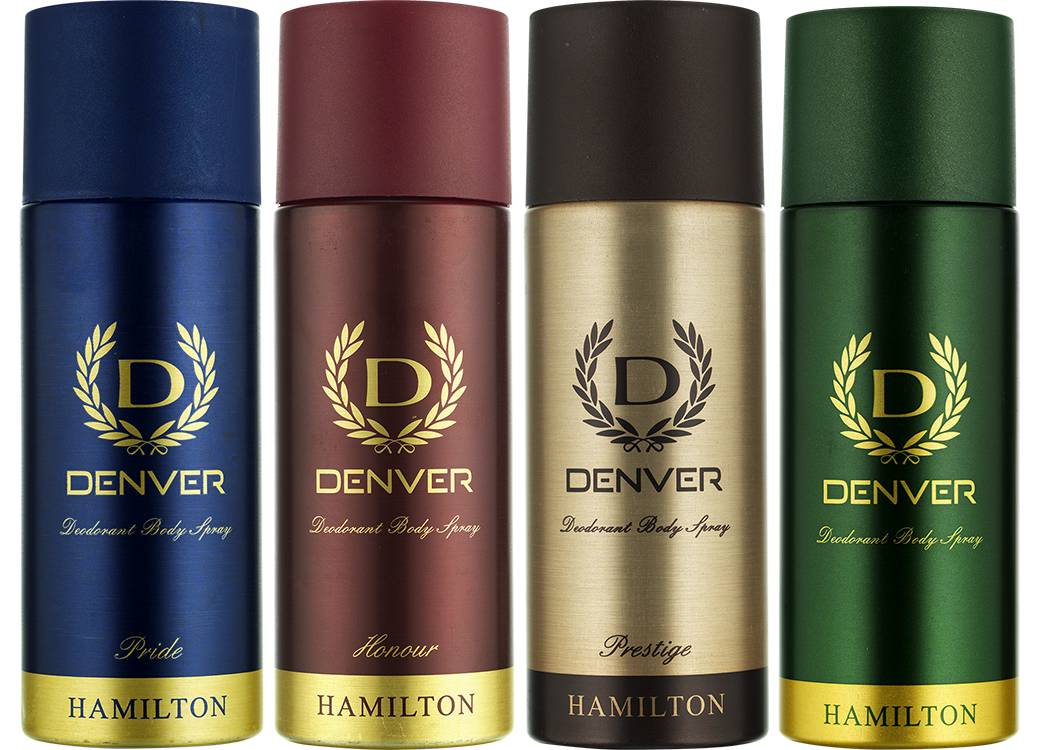 Denver Hamilton, Honour, Pride and Prestige Deodorant Combo (Pack of 4)