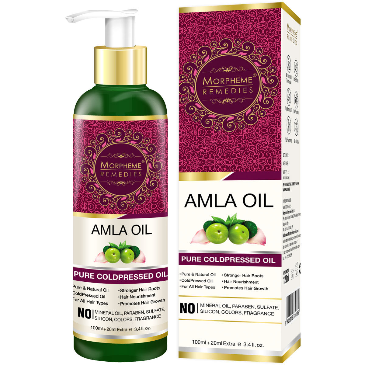Morpheme Remedies Pure Coldpressed Amla Hair Oil
