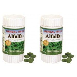 Buy Herbal Hills Alfalfa Tablets (Buy 1 Get 1) - Nykaa