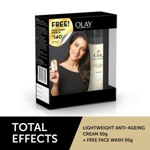 Buy Olay Total Effect 7 In One Light Weight Anti-Ageing Cream + Free  Anti-Ageing Foaming Face Wash(Worth Rs.140) - Nykaa