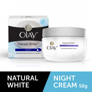 Buy Olay Natural White Nourishing Night Repair Cream - Nykaa