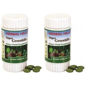 Buy Herbal Hills Super Greenhills Tablets (Buy 1 Get 1) - Nykaa