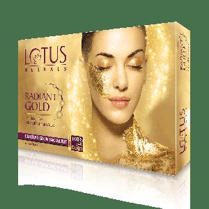 Buy Lotus Herbals Radiant Gold Cellular Glow 1 Facial Kit - Nykaa