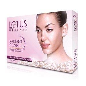 Buy Lotus Herbals Radiant Pearl Cellular Lightening 1 Facial Kit - Nykaa