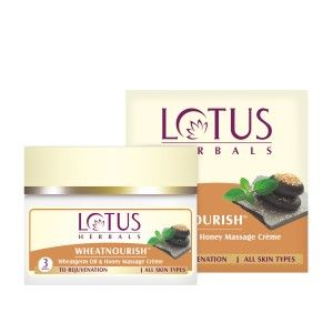 Buy Lotus Herbal Wheatnourish Wheatgerm Oil & Honey Massage Crème - Nykaa