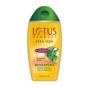 Buy Lotus Herbals Kera-veda Hennapura Henna Shampoo with Conditioner - Nykaa