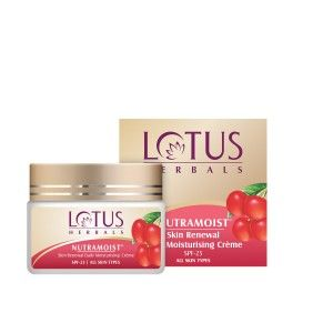 Buy Lotus Herbal Nutramoist Skin Renewal Daily Moisturising Creme Spf-25 - Nykaa