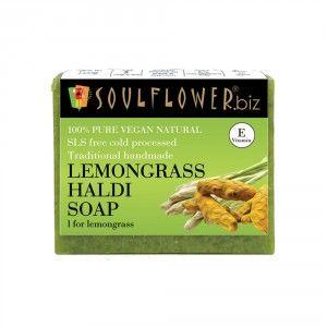 Buy Soulflower Lemongrass Haldi Soap - Nykaa