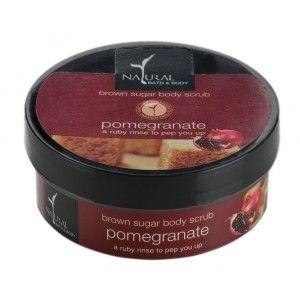 Buy Natural Bath & Body Brown Sugar Body Scrub - Pomegranate - Nykaa