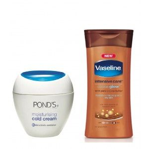 Buy Ponds Cold Cream + Vaseline Cocoa Glow Lotion Free - Nykaa