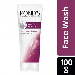 Buy Ponds White Beauty Sun Dullness Removal Daily Facial Scrub - Nykaa
