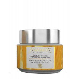 Buy Ananda Purifying Clay Mask - Sandalwood, Turmeric & Jojoba For Normal And Dry Skin - Nykaa