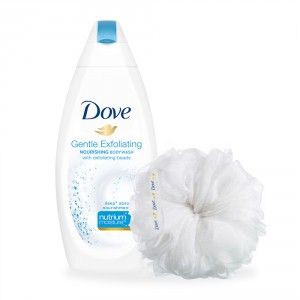 Buy Dove Gentle Exfoliating Body Wash (Rs. 61/- Off) + Free Loofah - Nykaa
