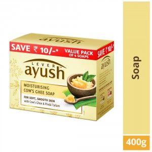 Buy Lever Ayush Moisturising Cow's Ghee Soap (Pack of 4) - Nykaa