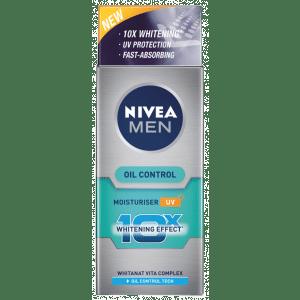 Buy Nivea For Men Whitening 10X Oil Control Moisturiser - Nykaa